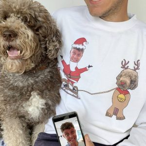 Personalised Dog and Owner Photo Jumper
