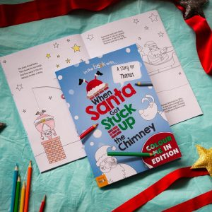 Personalised When Santa Got Stuck Up The Chimney Colouring Book