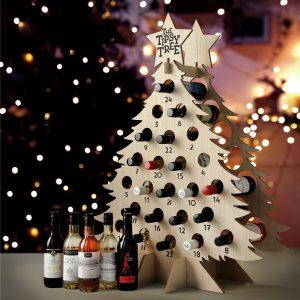 Tipsy Tree Advent Calendar With Wine