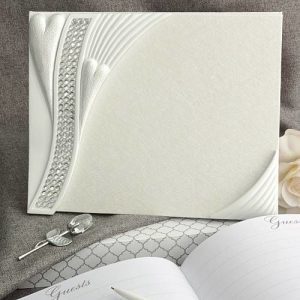 Bling Heart Design Guest Book