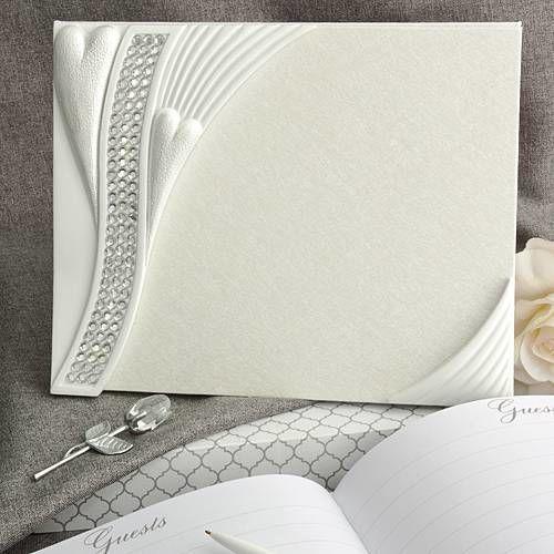 Bling Heart Design Guest Book