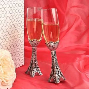 Eiffel Tower Champagne Flutes