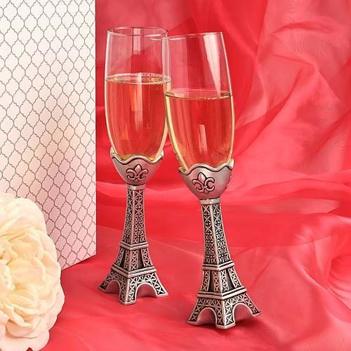 Eiffel Tower Champagne Flutes
