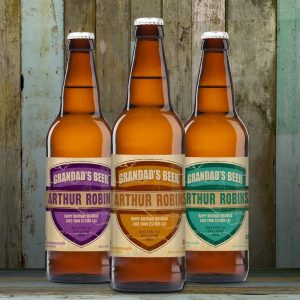 Personalised 3 Pack Grandads Beer Set