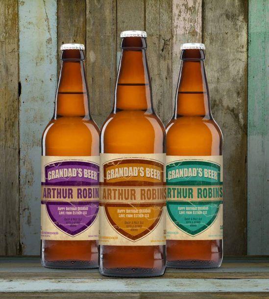 Personalised 3 Pack Grandads Beer Set