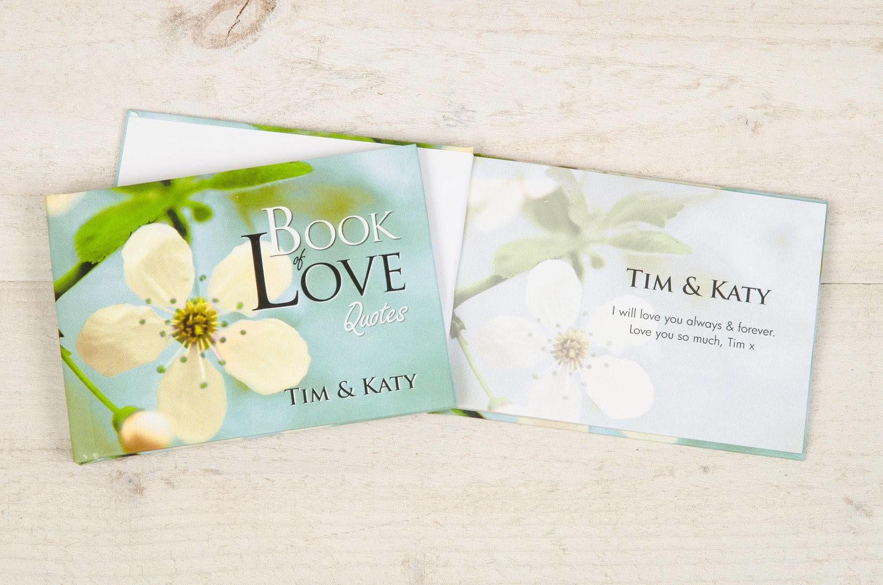 Book Love Quotes Personalised Book Of Love Quotes  Love My Gifts