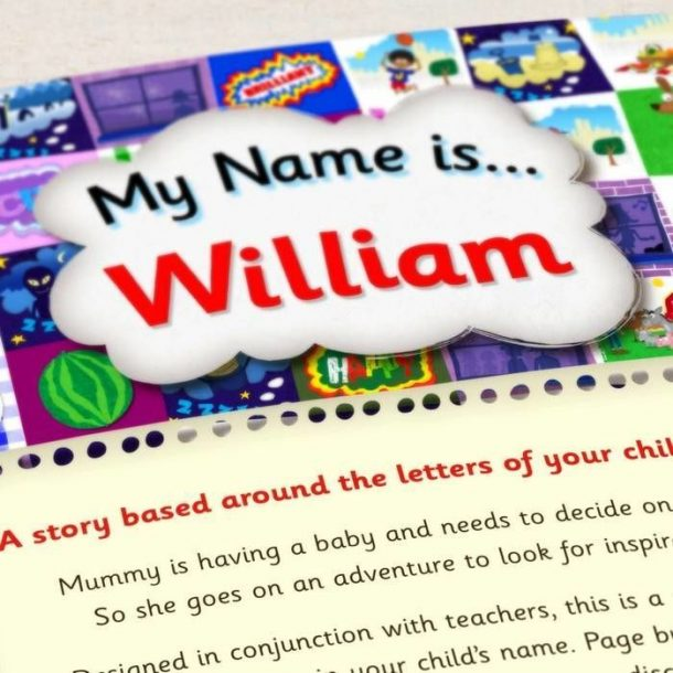 Personalised My Name Is Book