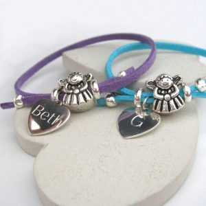 Personalised Fairy Suede Bracelet