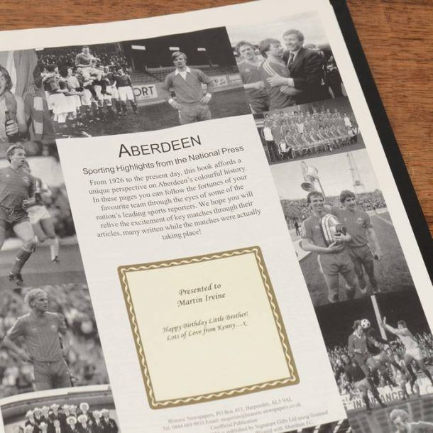 Personalised Football Book - For Any Team