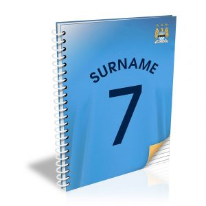 Personalised Man City FC Shirt A5 Notebook