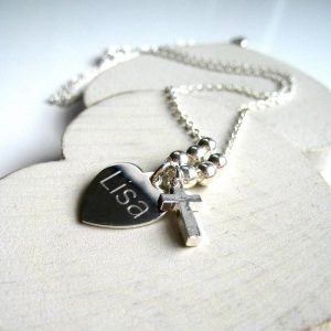 Personalised Mini Cross Necklace