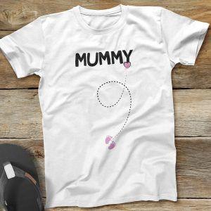 Mummy White T-Shirt