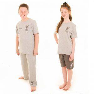 Personalised Official Liverpool Kids 3 Piece Pyjamas