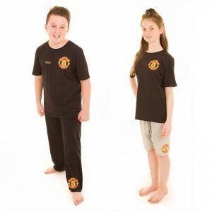 Personalised Official Man Utd Kids 3 Piece Pyjamas
