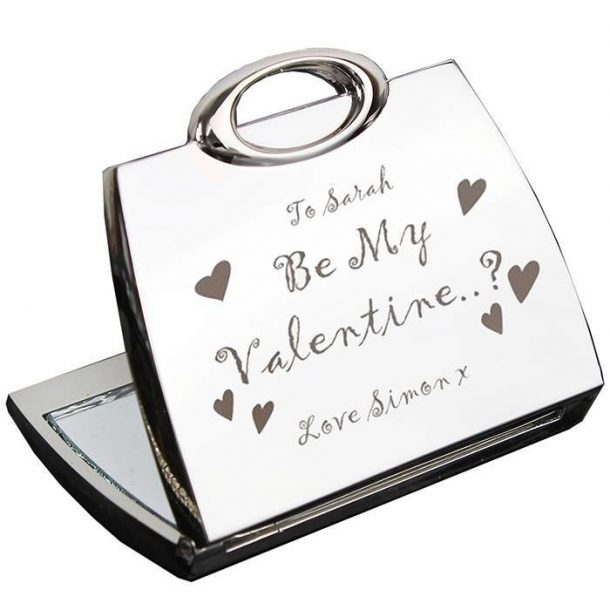 Personalised Be My Valentine Compact