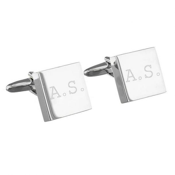 Personalised Sterling Silver Square Cufflinks