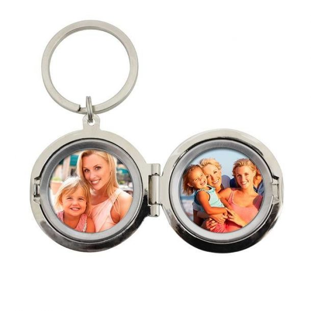 Personalised To The Moon Photo Keyring