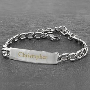 Personalised Stainless Steel Bracelet