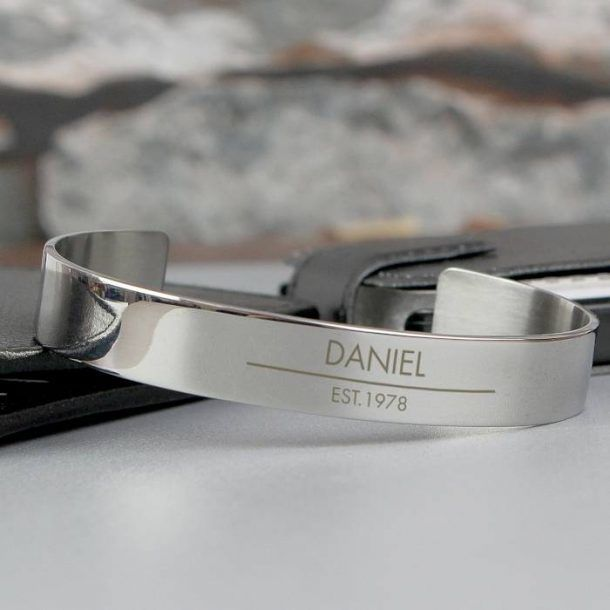 Personalised Classic Steel Bangle