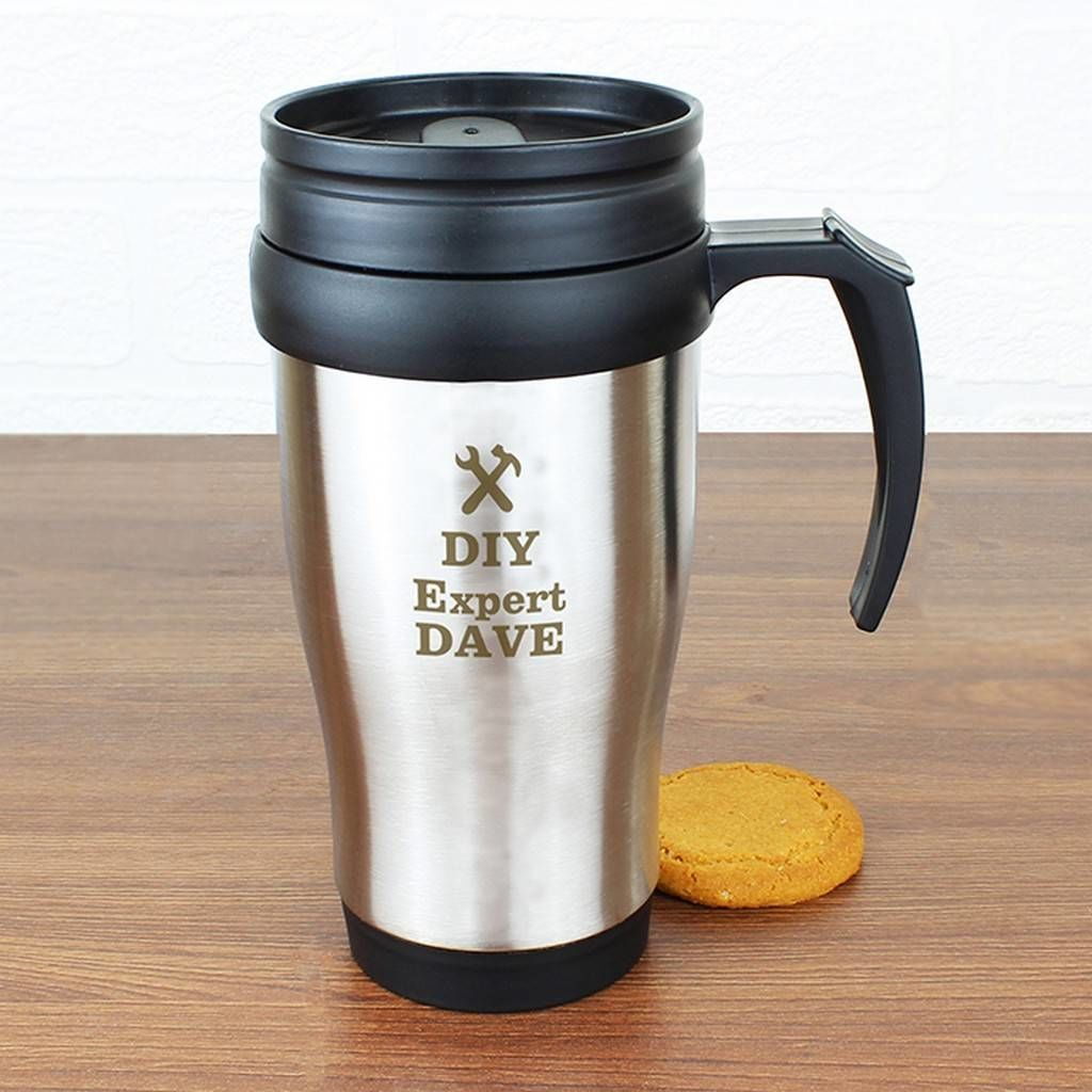 Personalised Man At Work Travel Mug