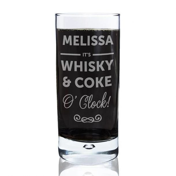 Personalised Its...O'Clock Bubble Glass
