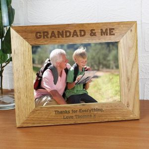 Personalised Grandad & Me Photo Frame