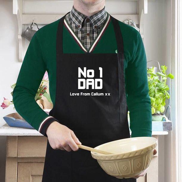 Personalised No.1 Dad Apron