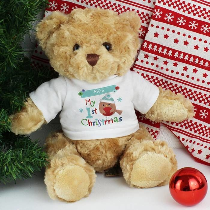 Personalised My 1st Christmas Teddy Love My Gifts