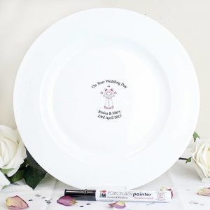 Personalised Female Civil Partnership Message Plate