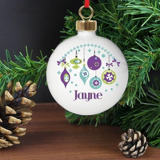 Personalised Retro Bauble