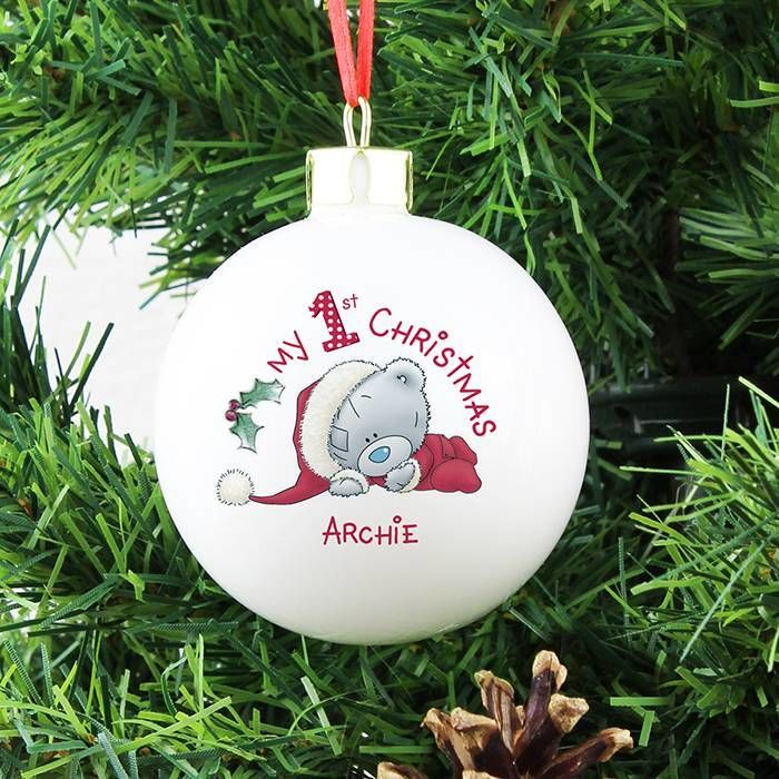 Personalised Me To You My 1st Christmas Bauble | Love My Gifts