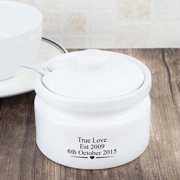 Personalised Decorative Jam or Sugar Pot