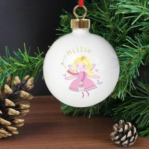 Personalised Christmas Fairy Bauble