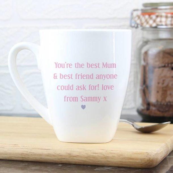 Personalised Garden Bloom Latte Mug