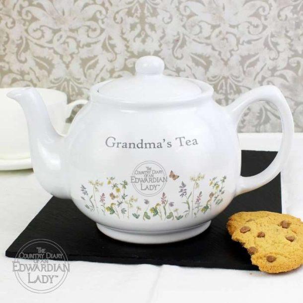 Personalised Wild Flowers Teapot