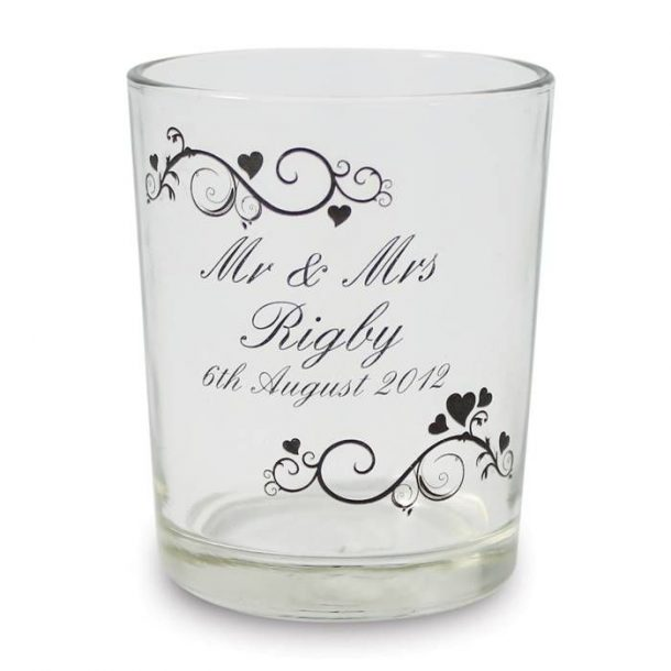 Personalised Ornate Swirl Candle Holder