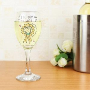 Personalised Mother's Day Wine Glass