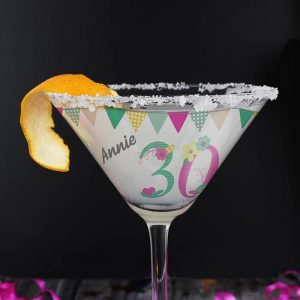 Personalised Birthday Cocktail Glass