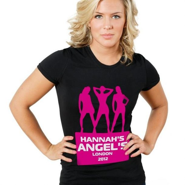 Personalised Angels Hen Do T-Shirt - Black