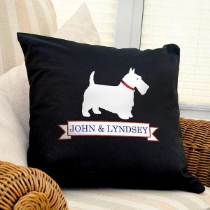 Personalised Scottie Dog Cushion Cover