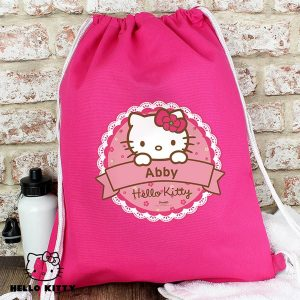 Personalised Hello Kitty Floral Kit Bag