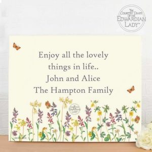 Personalised Wild Flowers Canvas