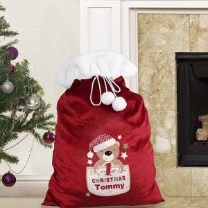 Personalised My 1st Christmas Plush Sack