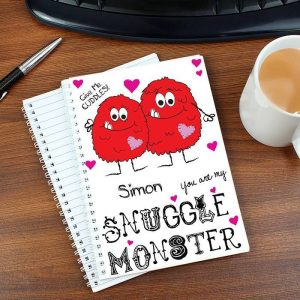 Personalised Snuggle Monster A5 Notebook