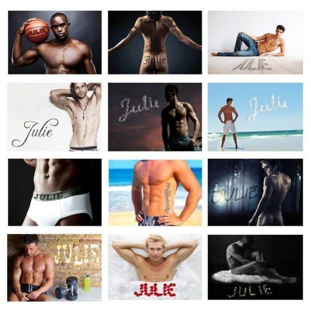 Personalised Hot Hunks Calendar