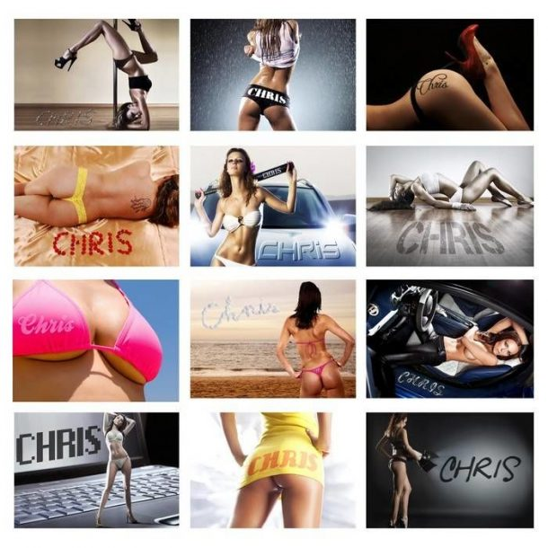 Personalised Hot Chicks Calendar
