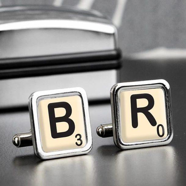 Personalised Letter Tile Cufflinks