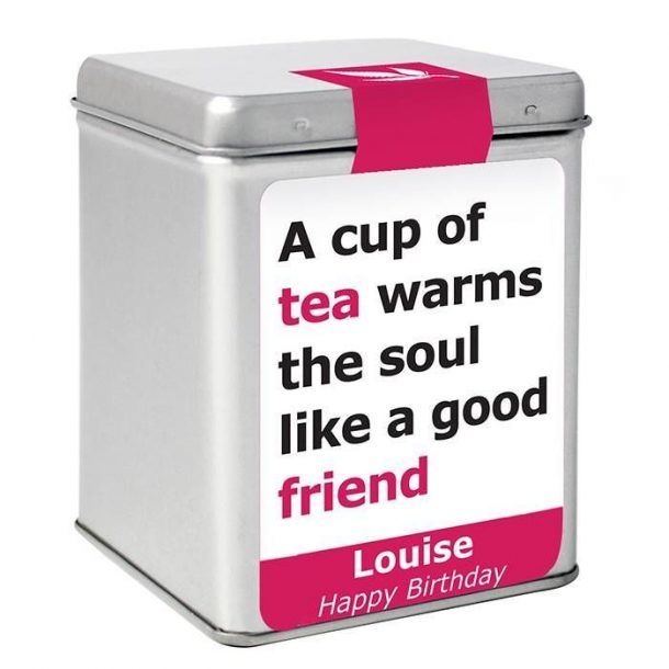 Personalised Good Friend Slogan Tin