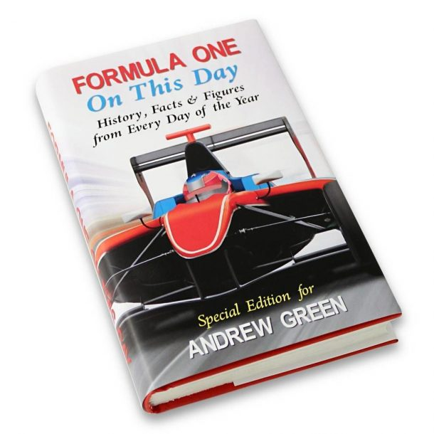 Personalised On This Day Formula 1 Book