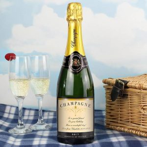 Personalised Any Message Classic Champagne